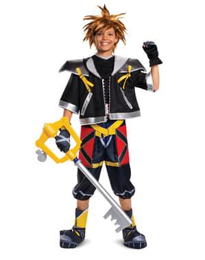 Fato de Kingdom Hearts III Classic Deluxe Sora para adolescente