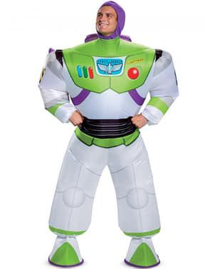 Buzz Lightyear Oppblåsbar Kostyme til Menn - Toy Story 4