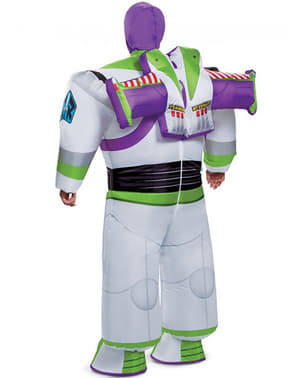 Buzz Lightyear oppusteligt kostume til mænd - Toy Story 4
