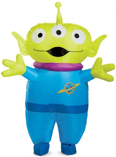 Toy Story 4 opblaasbare alien kostuum voor mannen