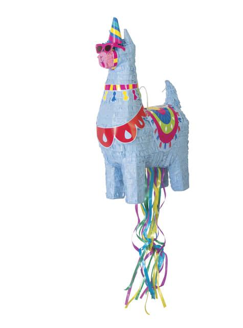 Blauwe Lama 3D Piñata
