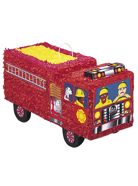 Piñata de camión de bomberos 3D