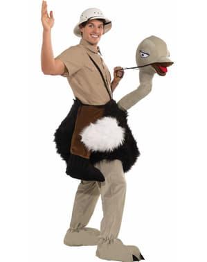 Fato de avestruz de corridas
