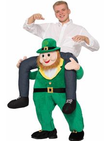 Disfraz de juerga irlandesa con el leprechaun