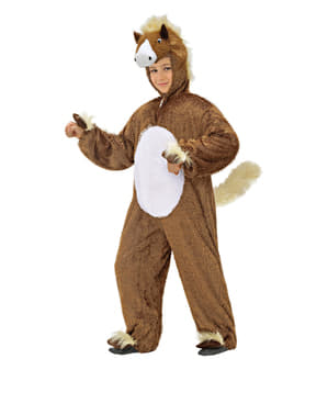Childrens Cute Stuffed Horse Costume