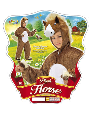Disfraz de caballo tierno de peluche infantil