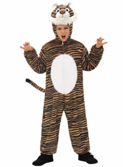 Disfraz de tigre de peluche infantil