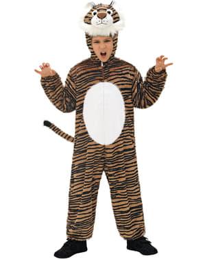 Tiger Kostüm für Kinder Plüsch
