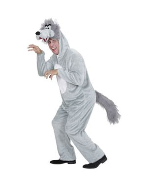 Cuddly Wolf Costume for Adults