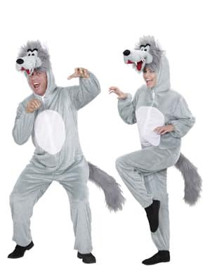 Wolf-Stofftier Kostüm für Erwachsene