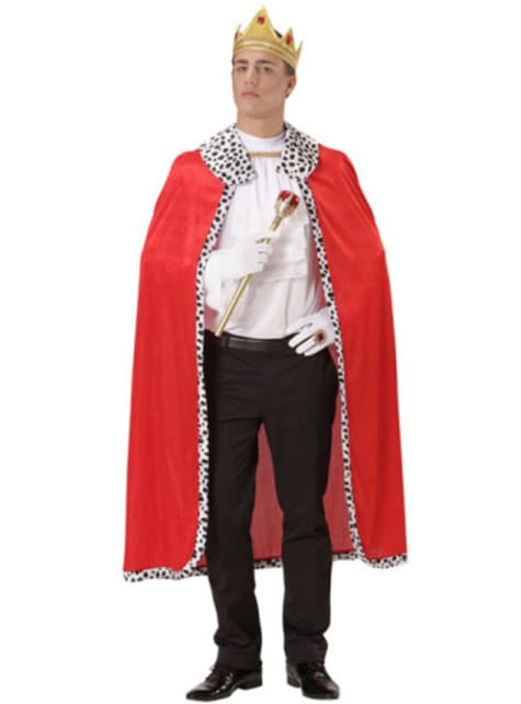 King cape and crown for a man