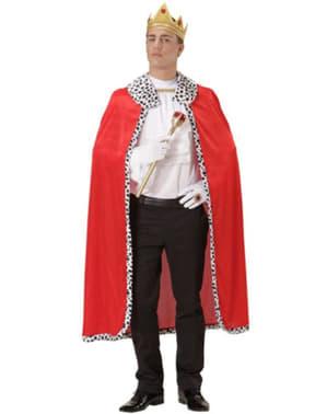Kunglig cape och krona Herr
