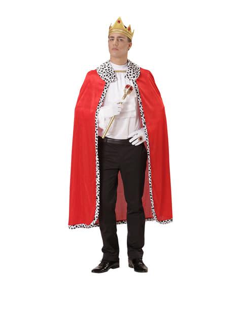 Capa e coroa de rei para homem