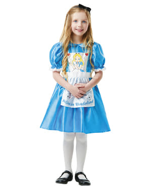 Alice i Eventyrland Kostyme til Jenter - Disney
