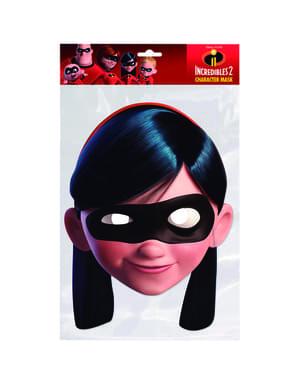 Masque en carton de violette fille - Los Increíbles