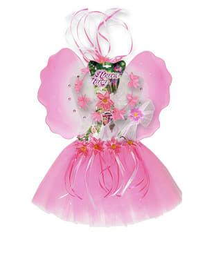 Kit costume da fata dei fiori da bambina