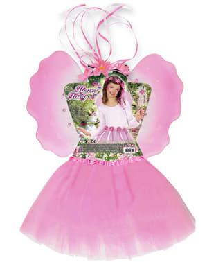 Kit fantasia de fada das flores para menina