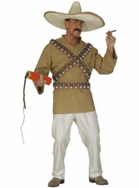 Disfraz de mexicano pistolero para hombre talla grande