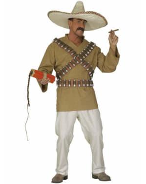 Costume da pistolero messicano da uomo taglie forti