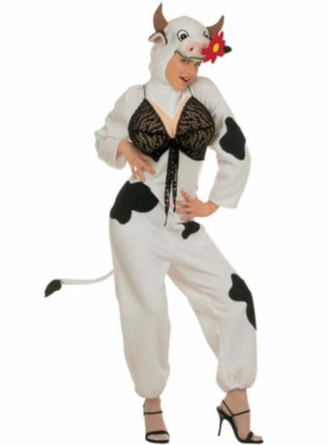 Disfraz de vaca atractiva para mujer talla grande