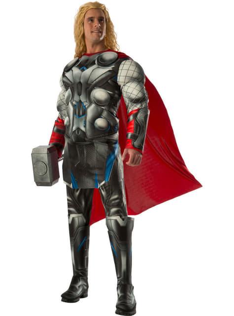 Fato de Thor do filme Os Vingadores: A Era de Ultron deluxe para adulto
