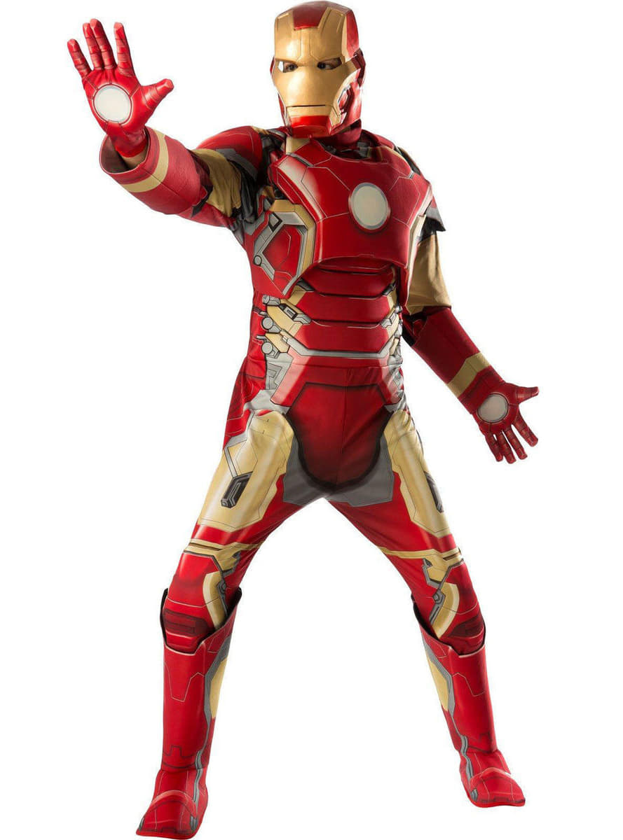 iron man kost m f r erwachsene deluxe avengers age of. Black Bedroom Furniture Sets. Home Design Ideas