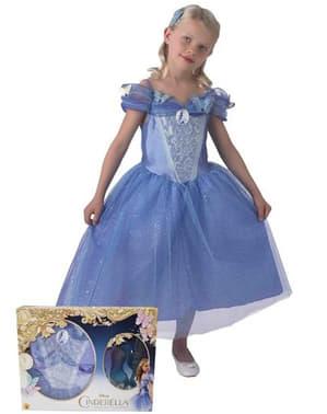 Fato de Cinderela filme para menina com sapatos