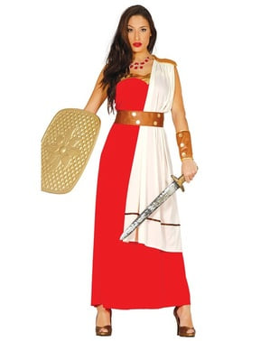 Kriegerische Spatanerin Kostüm für Damen