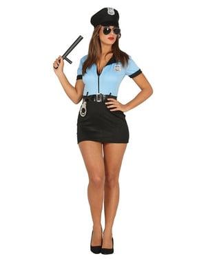 Innokas poliisi -asu naisille