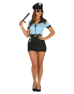 Maskeraddräkt duktig polis dam