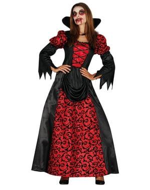 Maskeraddräkt vampyrinna helvetisk dam