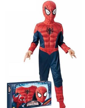 Kostium Ultimate Spiderman w pudełki dla chłopca