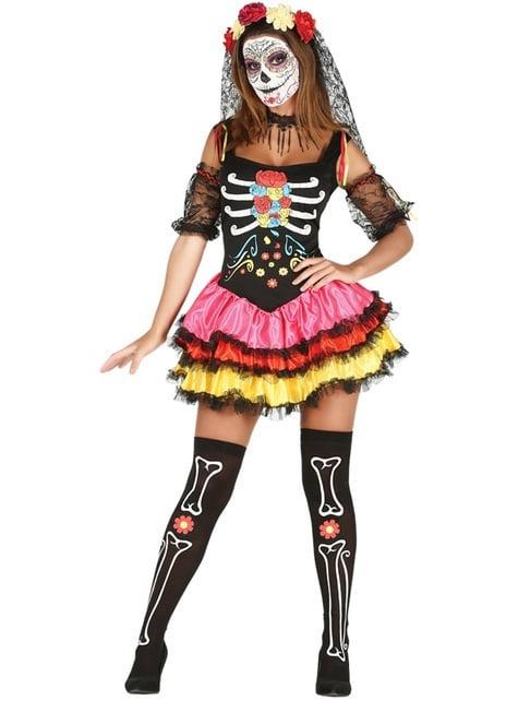 Disfraz de Catrina sugerente para mujer