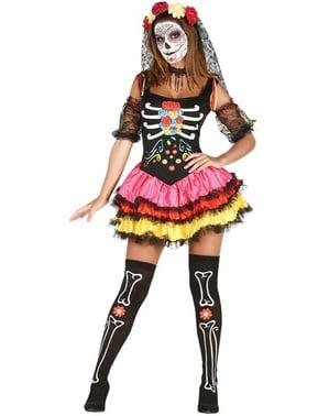 Verführerisches Catrina Kostüm für Damen
