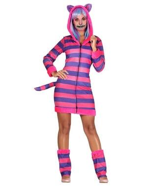 Costum de pisoi cu dungi pentru femeie