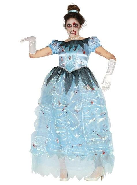 Zombie Mitternachtsprinzessin Kostüm für Damen
