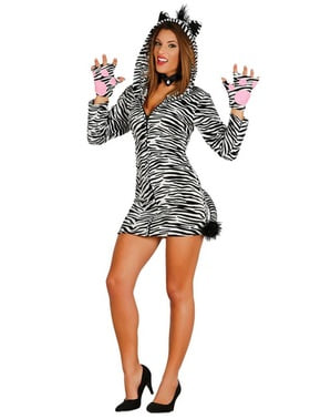 Playful zebra costume for women