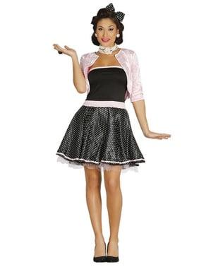 Fato de senhorita dos anos 50 para mulher