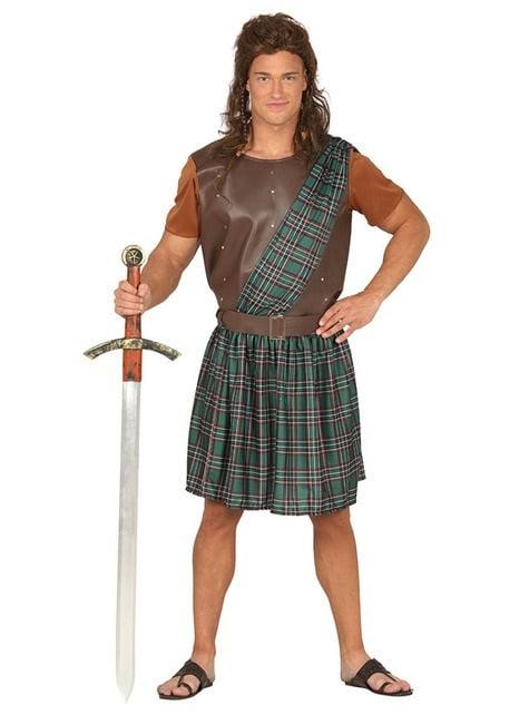 Disfraz de bárbaro escocés para hombre