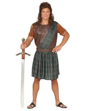 Costume barbaro scozzese per uomo