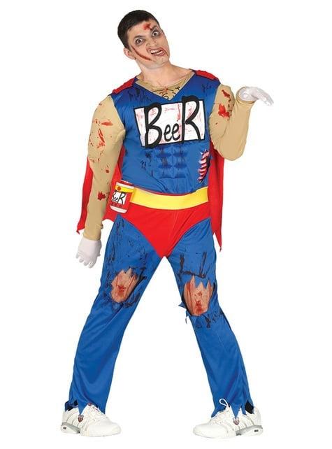 Beer zombie hero costume for men