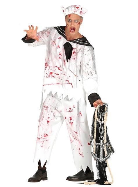 Disfraz de marinero zombie para hombre
