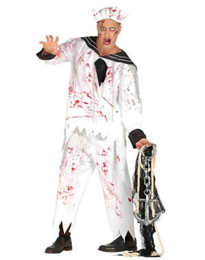 Zombie sailor costume for men