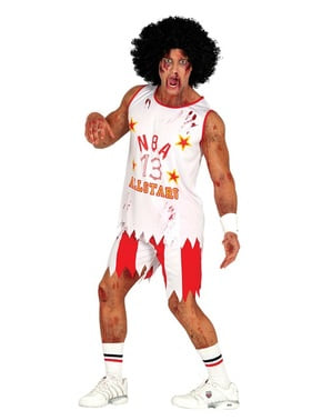 NBA Zombie Player Costume for men