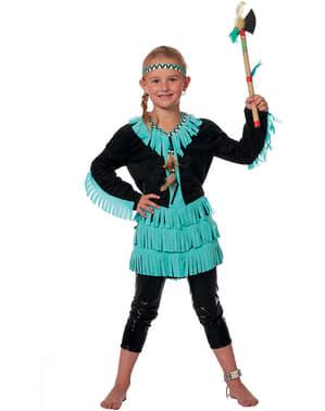 Indianerin Kostüm neon für Mädchen