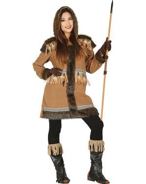 Elegant eskimo kostuum voor vrouw