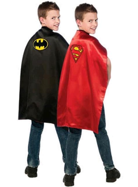 Chlapecký plášť oboustranný Batman/Superman