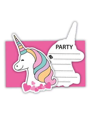 6 invitaciones de unicornio - Magic Party