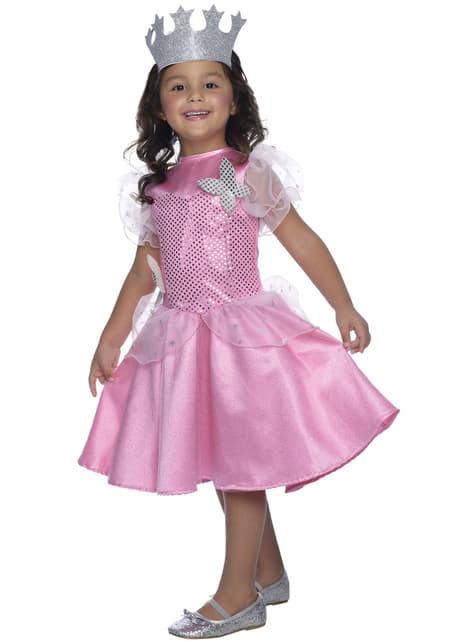 Fato de Glinda do Feiticeiro de Oz para menina