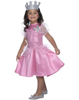 Costum Glinda Vrăjitorul din Oz pentru fată